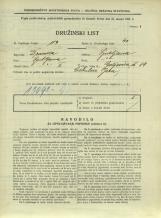 Popis prebivalstva 31. 3. 1931<br />Ljubljana<br />Galjevica 84<br />Population census 31 March 1931
