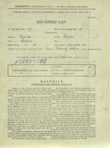 Popis prebivalstva 31. 3. 1931<br />Ljubljana<br />Galjevica 86<br />Population census 31 March 1931