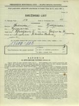 Popis prebivalstva 31. 3. 1931<br />Ljubljana<br />Galjevica 88<br />Population census 31 March 1931