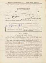 Popis prebivalstva 31. 3. 1931<br />Ljubljana<br />Gerbičeva ulica 10<br />Population census 31 March 1931