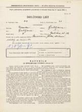 Popis prebivalstva 31. 3. 1931<br />Ljubljana<br />Gerbičeva ulica 19<br />Population census 31 March 1931