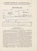 Popis prebivalstva 31. 3. 1931<br />Ljubljana<br />Gerbičeva ulica 30<br />Population census 31 March 1931