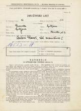 Popis prebivalstva 31. 3. 1931<br />Ljubljana<br />Glinška ulica 7<br />Population census 31 March 1931