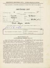Popis prebivalstva 31. 3. 1931<br />Ljubljana<br />Glinška ulica 8<br />Population census 31 March 1931