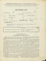 Popis prebivalstva 31. 3. 1931<br />Ljubljana<br />Gosposvetska cesta 1<br />Population census 31 March 1931