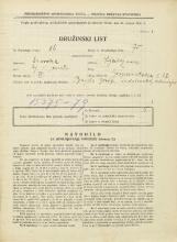 Popis prebivalstva 31. 3. 1931<br />Ljubljana<br />Gosposvetska cesta 12<br />Population census 31 March 1931