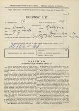 Popis prebivalstva 31. 3. 1931<br />Ljubljana<br />Gosposvetska cesta 20<br />Population census 31 March 1931