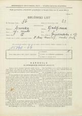 Popis prebivalstva 31. 3. 1931<br />Ljubljana<br />Gosposvetska cesta 5<br />Population census 31 March 1931