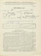 Popis prebivalstva 31. 3. 1931<br />Ljubljana<br />Gosposvetska cesta 6<br />Population census 31 March 1931