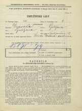 Popis prebivalstva 31. 3. 1931<br />Ljubljana<br />Grablovičeva ulica 12<br />Population census 31 March 1931