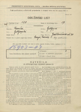 Popis prebivalstva 31. 3. 1931<br />Ljubljana<br />Grablovičeva ulica 20<br />Population census 31 March 1931