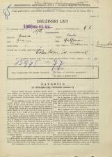 Popis prebivalstva 31. 3. 1931<br />Ljubljana<br />Grablovičeva ulica NN<br />Population census 31 March 1931