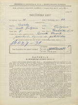 Popis prebivalstva 31. 3. 1931<br />Ljubljana<br />Gradaška ulica 10<br />Population census 31 March 1931