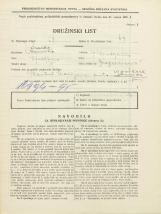 Popis prebivalstva 31. 3. 1931<br />Ljubljana<br />Gregorčičeva ulica 5<br />Population census 31 March 1931