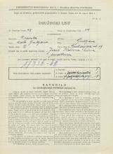 Popis prebivalstva 31. 3. 1931<br />Ljubljana<br />Groharjeva ulica 19<br />Population census 31 March 1931