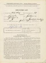 Popis prebivalstva 31. 3. 1931<br />Ljubljana<br />Grudnovo nabrežje 25<br />Population census 31 March 1931