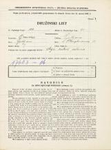 Popis prebivalstva 31. 3. 1931<br />Ljubljana<br />Hauptmanca 11<br />Population census 31 March 1931