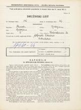 Popis prebivalstva 31. 3. 1931<br />Ljubljana<br />Herbersteinova ulica 20<br />Population census 31 March 1931