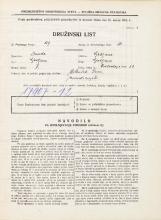 Popis prebivalstva 31. 3. 1931<br />Ljubljana<br />Hradeckega vas 33<br />Population census 31 March 1931