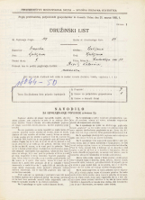 Popis prebivalstva 31. 3. 1931<br />Ljubljana<br />Hradeckega vas 50<br />Population census 31 March 1931