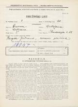 Popis prebivalstva 31. 3. 1931<br />Ljubljana<br />Hradeckega vas 68<br />Population census 31 March 1931