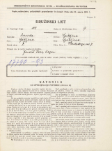 Popis prebivalstva 31. 3. 1931<br />Ljubljana<br />Hradeckega vas 7<br />Population census 31 March 1931