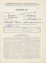 Popis prebivalstva 31. 3. 1931<br />Ljubljana<br />Hradeckega vas 70<br />Population census 31 March 1931