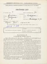 Popis prebivalstva 31. 3. 1931<br />Ljubljana<br />Hradeckega vas 74<br />Population census 31 March 1931