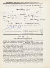 Popis prebivalstva 31. 3. 1931<br />Ljubljana<br />Hradeckega vas 82<br />Population census 31 March 1931