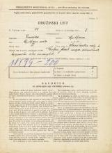 Popis prebivalstva 31. 3. 1931<br />Ljubljana<br />Hranilniška cesta 2<br />Population census 31 March 1931