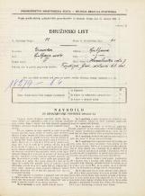 Popis prebivalstva 31. 3. 1931<br />Ljubljana<br />Hranilniška cesta 7<br />Population census 31 March 1931