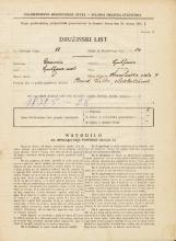 Popis prebivalstva 31. 3. 1931<br />Ljubljana<br />Hranilniška cesta 9<br />Population census 31 March 1931