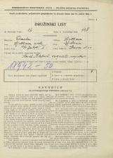 Popis prebivalstva 31. 3. 1931<br />Ljubljana<br />Hrenova ulica 20<br />Population census 31 March 1931
