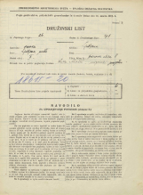 Popis prebivalstva 31. 3. 1931<br />Ljubljana<br />Hrenova ulica 8<br />Population census 31 March 1931