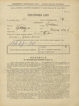 Popis prebivalstva 31. 3. 1931<br />Ljubljana<br />Hrenova ulica 9<br />Population census 31 March 1931
