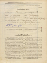 Popis prebivalstva 31. 3. 1931<br />Ljubljana<br />Hrvatski trg 3<br />Population census 31 March 1931