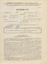 Popis prebivalstva 31. 3. 1931<br />Ljubljana<br />Hrvatski trg 4<br />Population census 31 March 1931