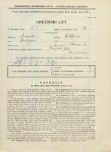 Popis prebivalstva 31. 3. 1931<br />Ljubljana<br />Ilovica 13<br />Population census 31 March 1931