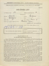 Popis prebivalstva 31. 3. 1931<br />Ljubljana<br />Ilovica 17<br />Population census 31 March 1931