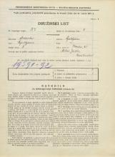Popis prebivalstva 31. 3. 1931<br />Ljubljana<br />Ilovica 25<br />Population census 31 March 1931