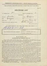 Popis prebivalstva 31. 3. 1931<br />Ljubljana<br />Ilovica 27<br />Population census 31 March 1931