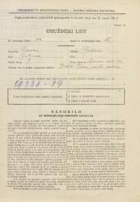 Popis prebivalstva 31. 3. 1931<br />Ljubljana<br />Ižanska cesta 46<br />Population census 31 March 1931