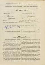Popis prebivalstva 31. 3. 1931<br />Ljubljana<br />Ižanska cesta 47<br />Population census 31 March 1931
