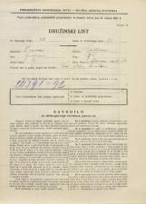 Popis prebivalstva 31. 3. 1931<br />Ljubljana<br />Ižanska cesta 54<br />Population census 31 March 1931
