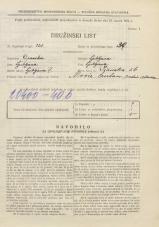 Popis prebivalstva 31. 3. 1931<br />Ljubljana<br />Ižanska cesta 56<br />Population census 31 March 1931