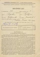 Popis prebivalstva 31. 3. 1931<br />Ljubljana<br />Janševa ulica 1<br />Population census 31 March 1931