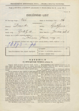 Popis prebivalstva 31. 3. 1931<br />Ljubljana<br />Janševa ulica 11<br />Population census 31 March 1931