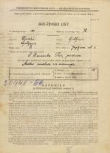 Popis prebivalstva 31. 3. 1931<br />Ljubljana<br />Japljeva ulica 2<br />Population census 31 March 1931