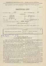 Popis prebivalstva 31. 3. 1931<br />Ljubljana<br />Japljeva ulica 3<br />Population census 31 March 1931
