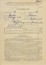 Popis prebivalstva 31. 3. 1931<br />Ljubljana<br />Jegličeva ulica 11<br />Population census 31 March 1931